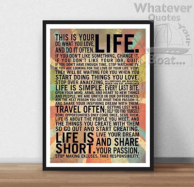 Inspirational Motivational Life Poster Print Frame IMPOSSIBLE