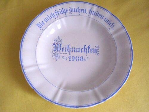 Sammlerstück: Teller von  F.A. Mehlem Bonn, - Weihnachten 1906 -, siehe Fotos