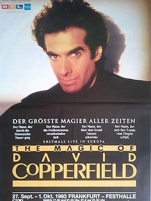 Herrlich David Copperfield 1993 Frankfurt - Orig. Tour Poster - Plakat A0 Xx Gut Verkaufen Auf Der Ganzen Welt