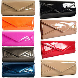 New Patent Oversized Clutch Bag Glossy Evening Summer Candy Handbag Womens Prom