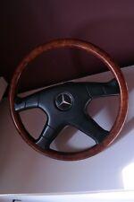 Wood steering wheel ZENDER MoMo Mercedes W124, W126, R129, W201 Burlwood