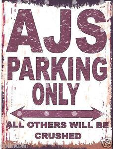 LOTUS METAL PARKING SIGN RUSTIC STYLE car tin shed garage workshop