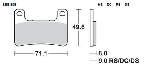Kawasaki ZX10R 2008-2015 Sintered SBS front brake pads 806HS sinter ZX-10R