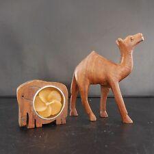 2 STATUETTES FIGURINES DROMADAIRE ELEPHANT BOUGIE