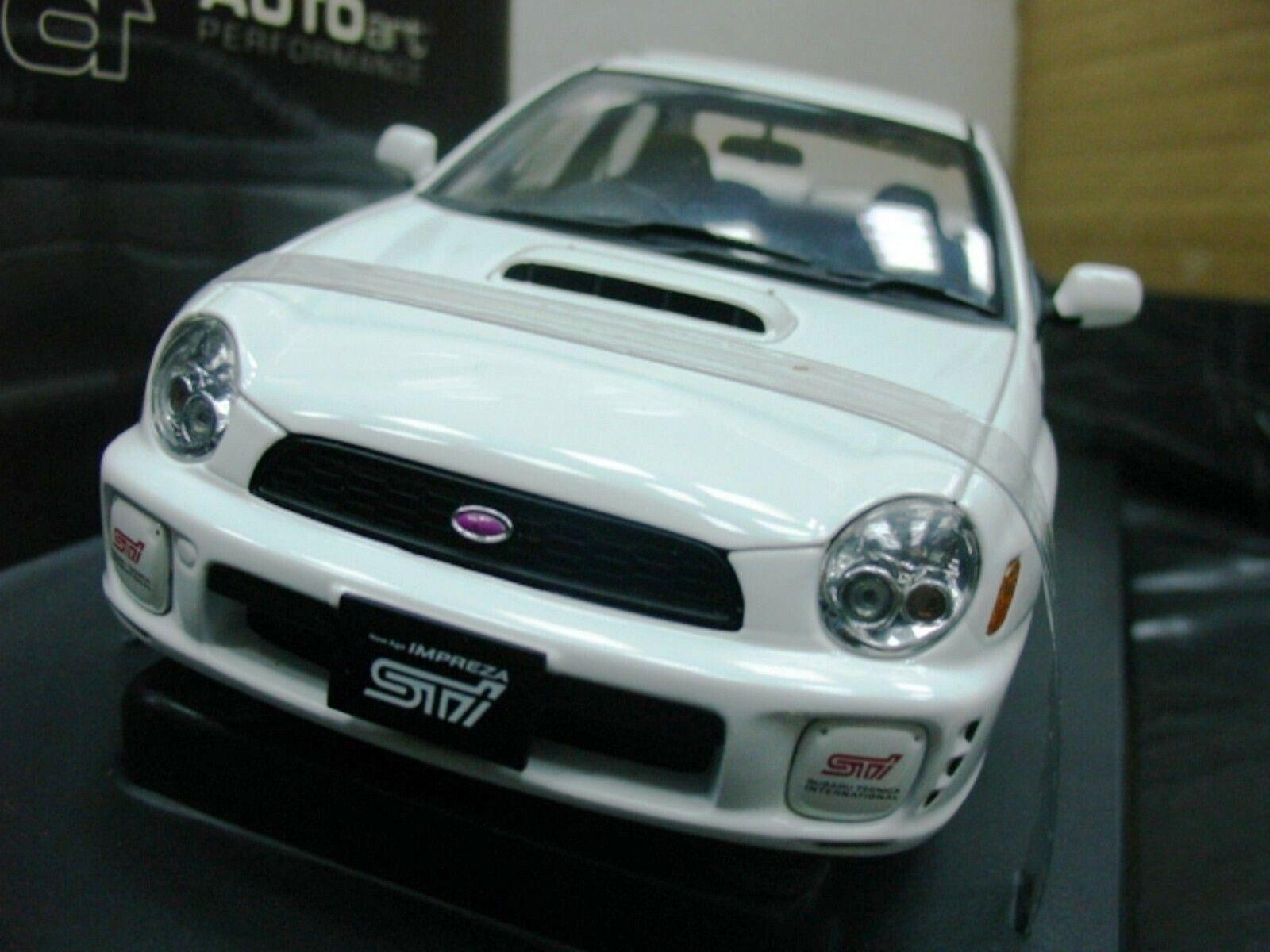 WOW estremamente raro SUBARU IMPREZA WRX STI 2001 RHD Bianco 1 18 AUTO Art-WRC 2006