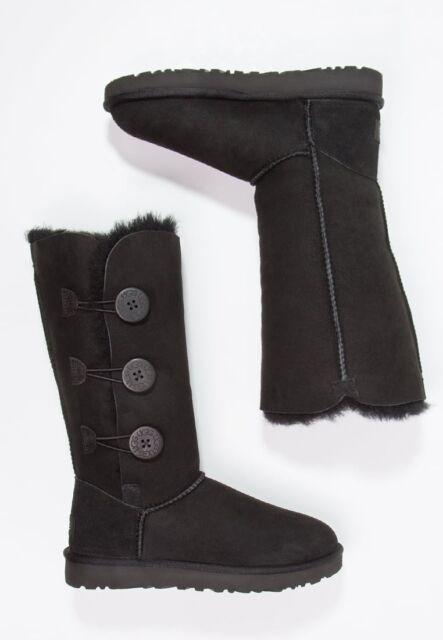 6236207d2b7 UGG Australia Bailey Button Triplet LL BOOTS Black Size 7 Medium Z11