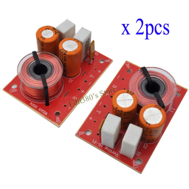 2pcs 2 Way 2 Unit Hi-Fi Audio Speaker Frequency Divider Stereo Crossover Filters