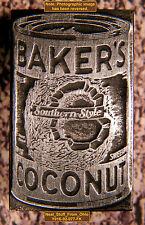 BAKER'S COCONUT - LETTERPRESS PRINTER'S BLOCK - EXTREMELY RARE - c1930-40s
