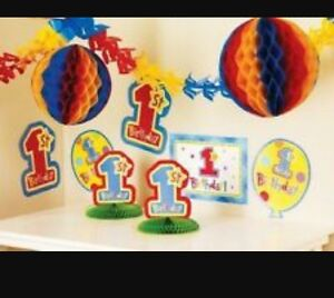 1st-Birthday-Room-Decorating-Kits-10-pieces-each-NEW-1st-displays-table-decor