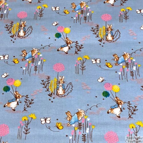 Peter Rabbit Tissu 100/% coton-Bleu 2306-01 Beatrix Potter