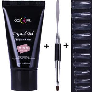30ml-Nail-Quick-Building-Extension-UV-Gel-Tip-UV-Gel-Brush-W-100Pcs-False-Tips