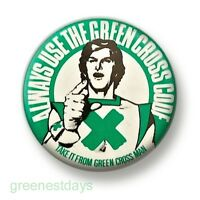 Green Cross Code Man 1 Inch / 25mm Pin Button Badge Road Safety School Retro Fun