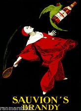 1900's Sauvion's Brandy Wine France French Cognac Advertisement Art Poster