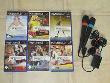 Playstation 2 Singstarbundle (3 Spiele und 2 Mikrofone/Mikros) PS2 PS 2