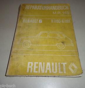 Automobilia Service & Reparaturanleitungen R 1181 Stand 01/1973 Werkstatthandbuch Renault 6 R 1180