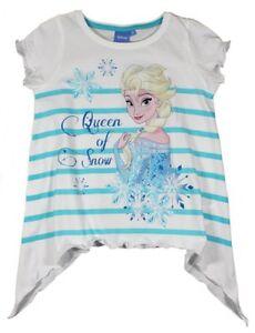 Disney-die-Eiskoenigin-Frozen-Elsa-kurzarm-T-Shirt