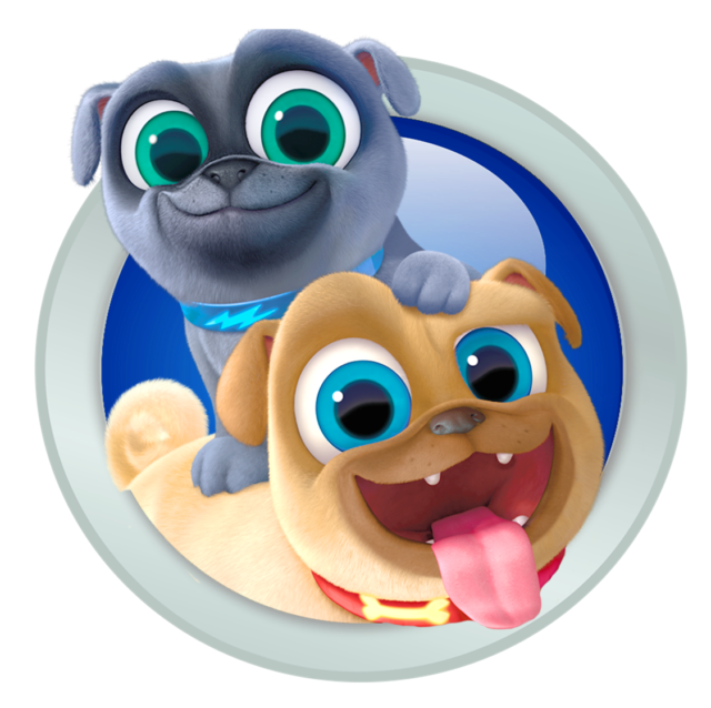 Puppy Dog Pals Bingo And Rolly Iron On Transfer 5 X5 For Light