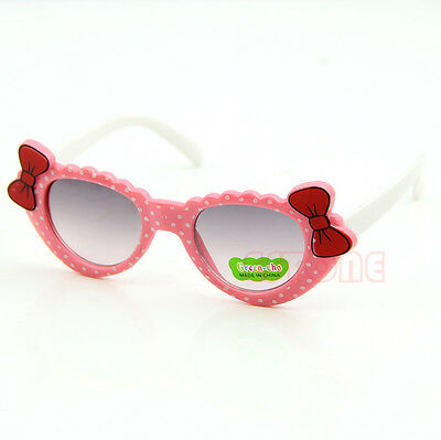 Cute Baby Boys Girls Kids Sunglasses Glass Child Goggles Bow Eyewear UV 400 New