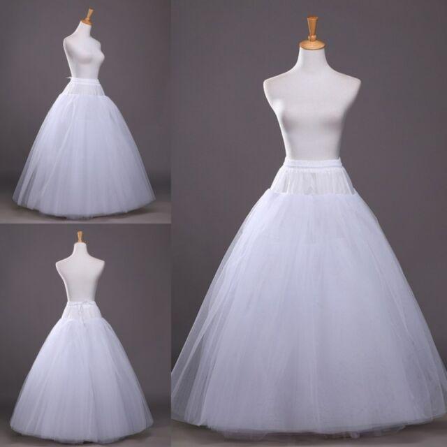 Long Full Length Tulle Petticoat Crinoline Underskirt Bridal Wedding Dress Slips For Sale Online Ebay