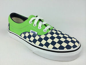 VANS-Kids-ERA-2-Tone-CHECKER-Canvas-Shoes-GREEN-US-Kids10-5-thru-13-amp-1-3