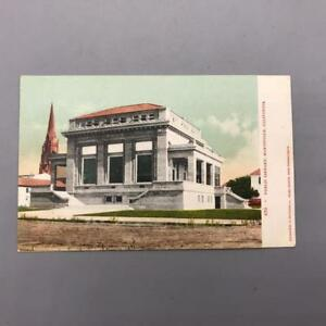 Antique-Postcard-Public-Library-Marysville-California-ca-1910
