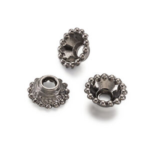 5xTibetan Silver Flower Bead Caps Nickel Free Spacer Beads Cone End Caps 16x18mm