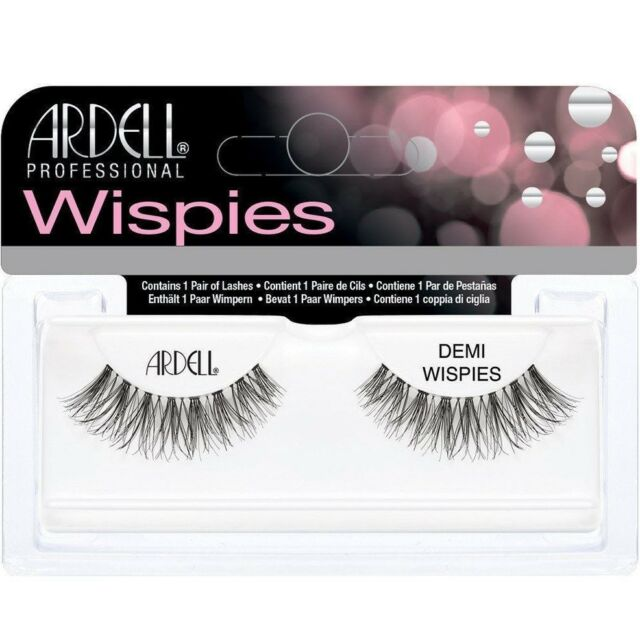 4 X Ardell Demi Wispies Natural Black False Eyelashes 100% Human Hair