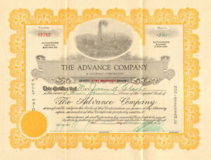 Details About The Advance Company 1920s Colorado Fort Worth Texas Oil Stock Certificate