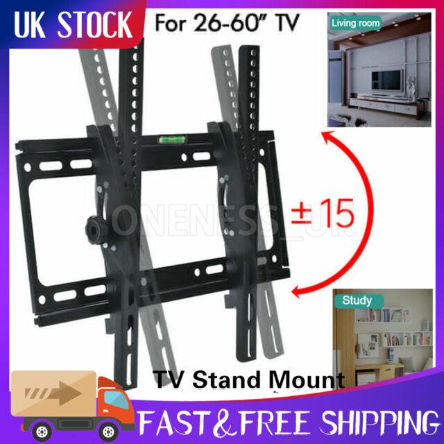 "LCD LED Plasma TV Wall Bracket Vesa Mount Tilting 26 32 34 40 42 50 55 60"" Inch"