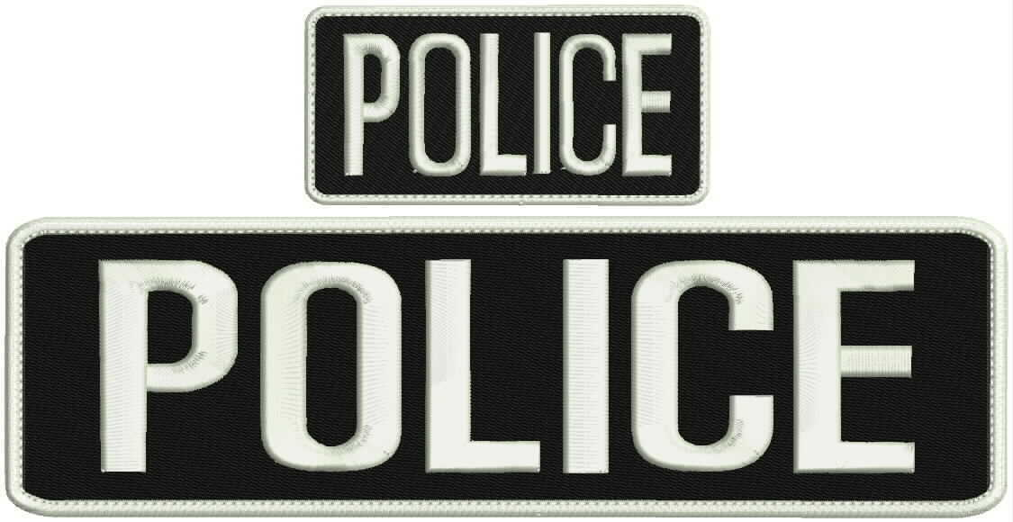 Parole Agent embroidery patch 3x10 and 2x4 hook grey letters