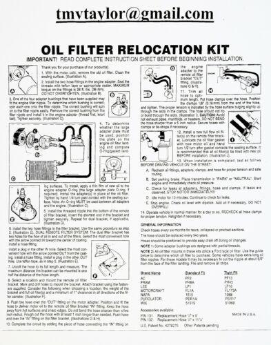 Complete Ford 6.7L Dual Remote Bypass Kit /& Baldwin BF7587 1u Filter /& B7379 8u