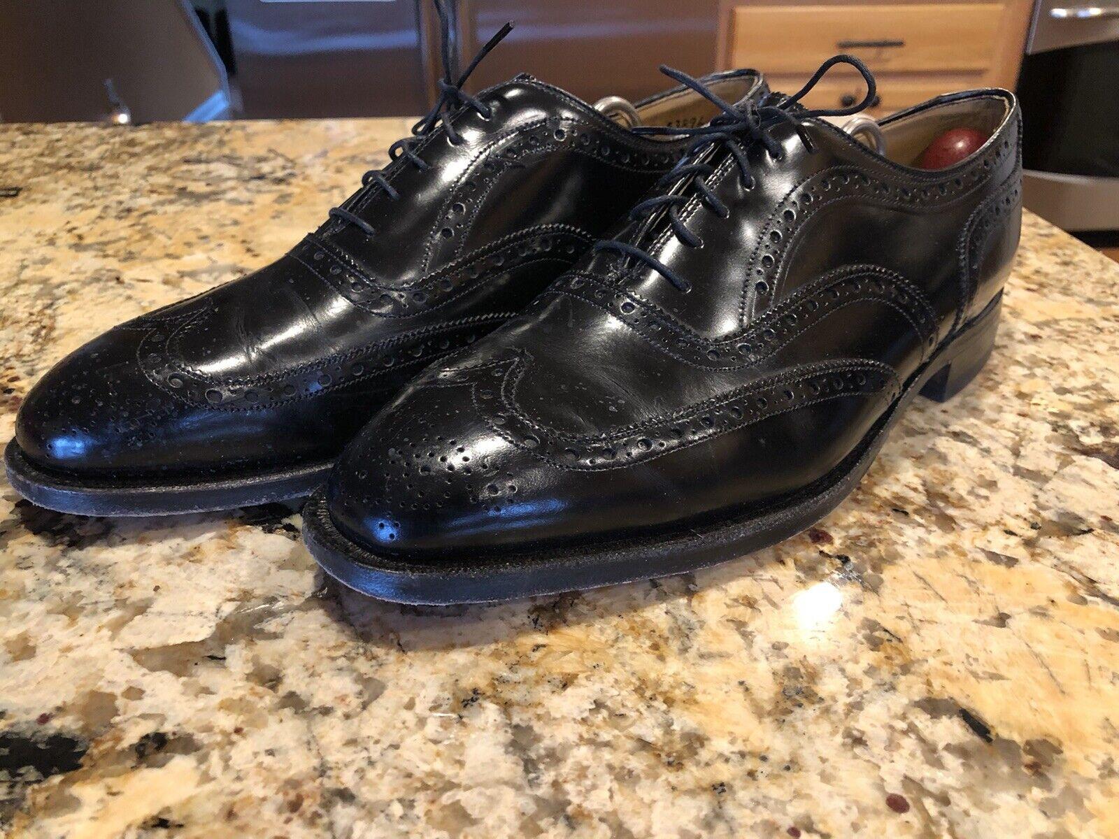 Johnston & Murphy Aristocrat Men's Black Leather Oxfords Size 9