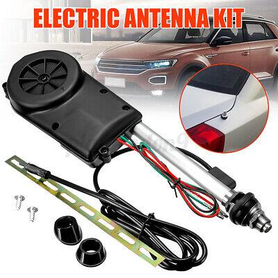 Universal Car AM FM Radio Mast Power Electric Aerial Automatic Antenna Kit CAO