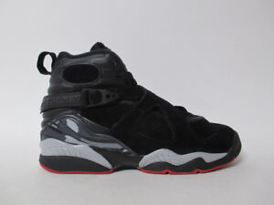 ec93f2204417 Nike Air Jordan 8 VIII Black Red Alternate Bred GS Grade School 5 ...
