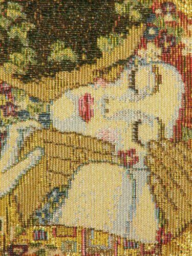 GUSTAV KLIMT THE KISS 93CM X 70CM FULLY LINED BELGIAN TAPESTRY WALL HANGING