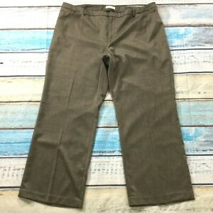 Coldwater-Creek-Womens-Pants-size-22-Light-Brown-Gold-Threads-Straight-Stretch