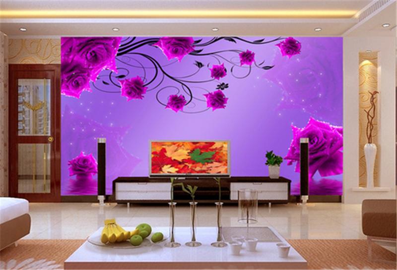 3D lila Flower Water 924 Wallpaper Mural Paper Wall Print Wallpaper Murals UK