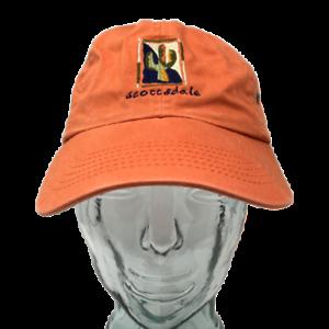 Suttons-Sportswear-Scottsdale-Arizona-Baseball-Cap-Hat-Orange-OSFM-Strap-Back