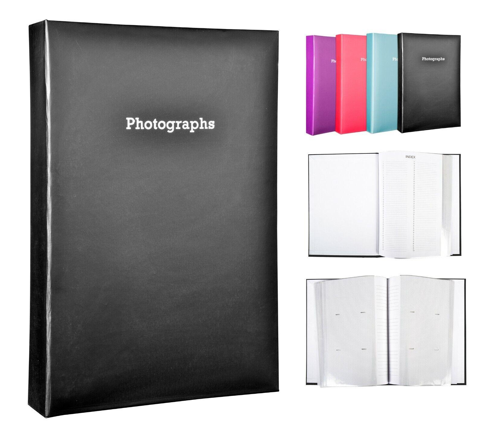 Large Black Memo Slip In Photo Album Holds 300 6 x 4 Photos (10x15cm)