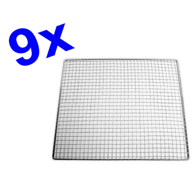 9 x Tribest Stainless Steel Mesh Trays for Sedona 9000 and 9150 (SD77S)
