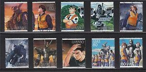 JAPAN-2008-ANIMATION-HERO-8TH-ISSUE-PATLABOR-MOBILE-POLICE-COMP-SET-OF-10-STAMP