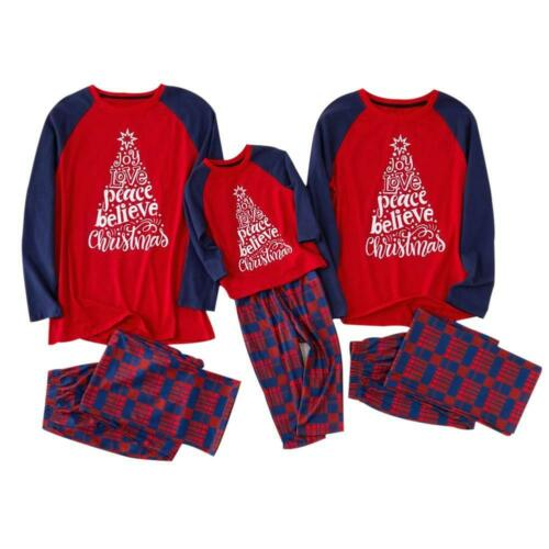 2pcs Parent-child Christmas Clothing Autumn Long Sleeve T-shirt Pants Outfits
