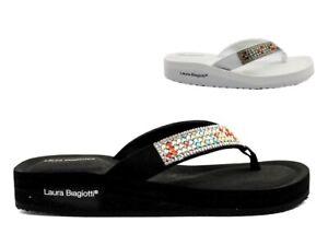Sandali scarpe da donna Laura Biagiotti 6879 infradito basse mare doccia piscina