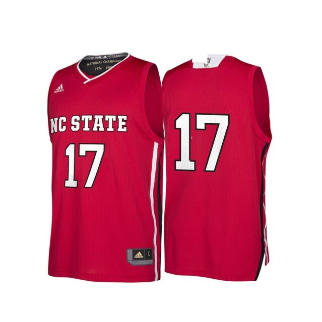 66fb06d33ce NC State Wolfpack NCAA Adidas Men s March Madness Red  17 Basketball Jersey