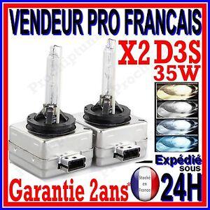 PAIRE AMPOULE LAMPE FEU PHARE XENON D3S HID FEUX LUMIERE BLANCHE CULOT 12V 35W