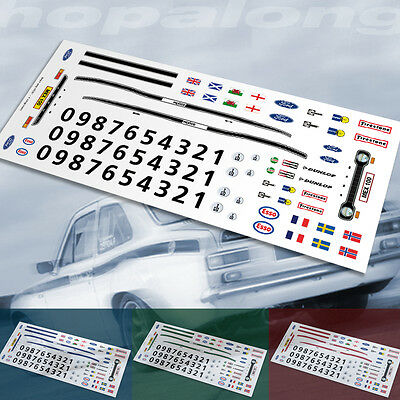 Scalextric//Slot Car 1//43 /& 1//64 Scale Waterslide Decals.