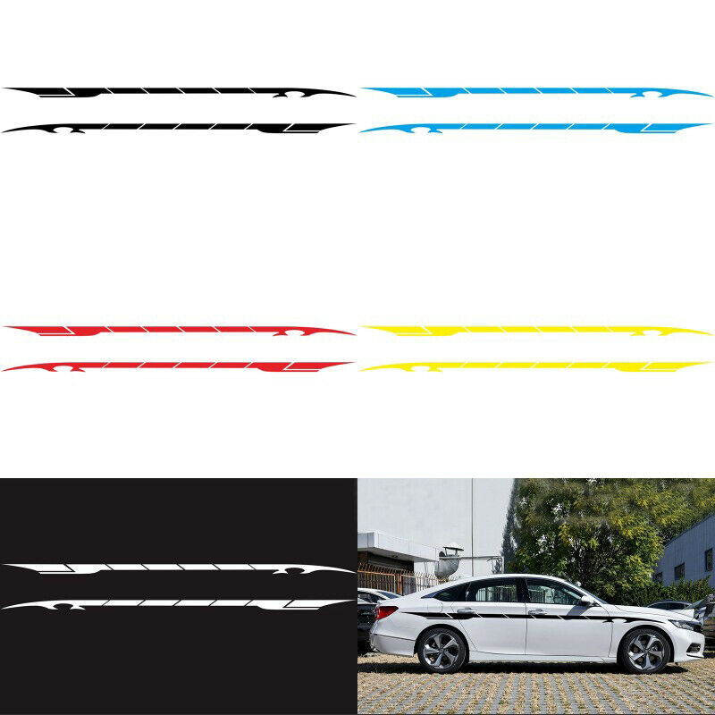 Picniva sty529Car Body Side Stripes Vinyl Graphics Sticker Decals 2 Pcs