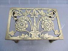 Antique Brass Trivet Cake Iron Planter Stand Holder Victorian Art Nouveau WT&S