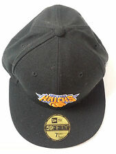 59 fifty new era NBA basketball caps NY KNICKS hat black size 7 1/4  57.7 cm