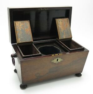 Regency Period Mahogany tea caddy